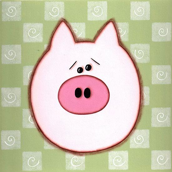 art prints - Little Piggy by Sue Allemand