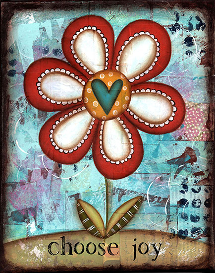 art prints - Choose Joy Loopy Flower by Sue Allemand