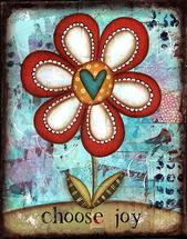 Choose Joy Loopy Flower by Sue Allemand