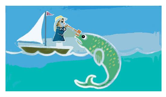 art prints - Something is a little fishy... by Jeanne Hollington