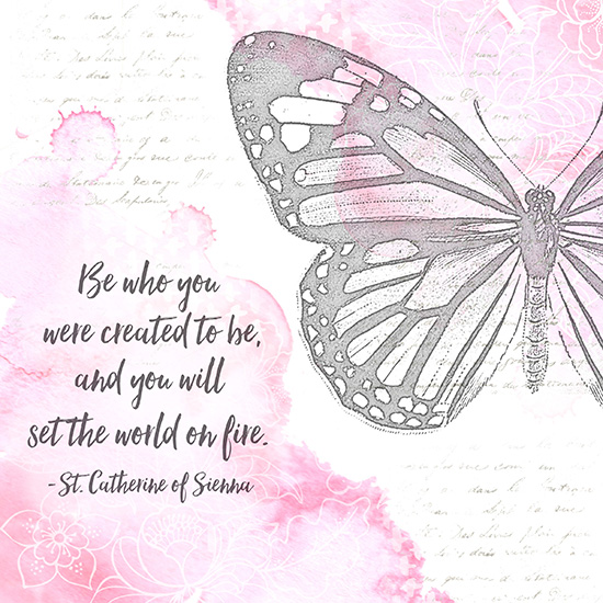 art prints - Vintage Butterfly Quote by Patina Creative