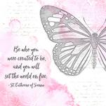 Vintage Butterfly Quote by Patina Creative