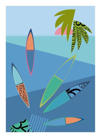 art prints - Boats on the Beach by Marjie Best