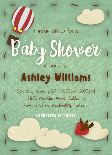 baby shower invitations - A Gift From Above by Laurie Beasley
