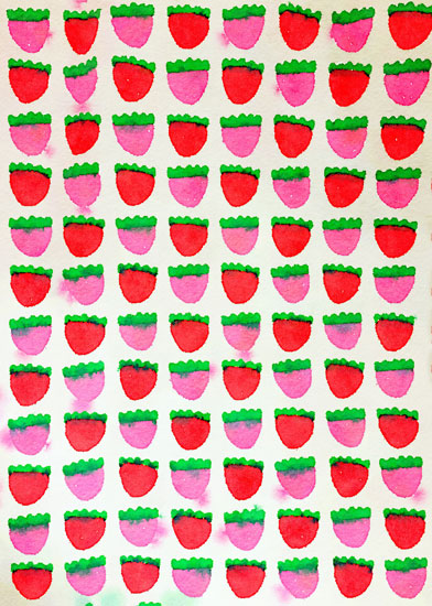 art prints - Strawberry Summer by Kristin Griffin