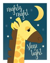 Nighty Night Giraffe by Little Bees Graphics