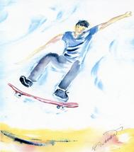 Airborne by Ellen Evanow Watercolors