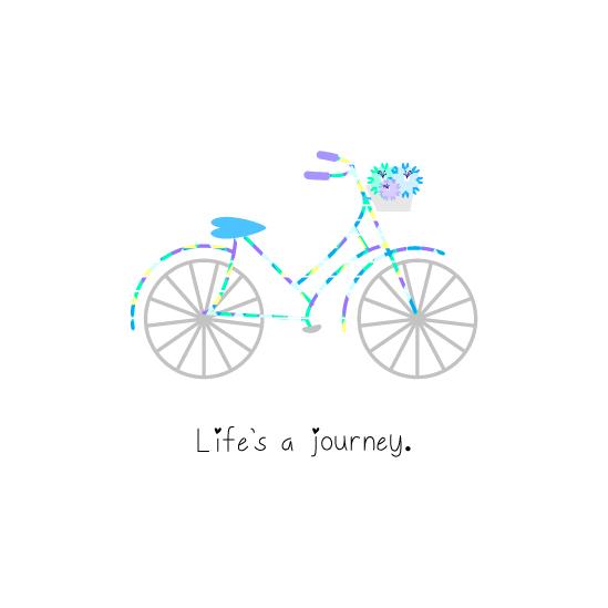 art prints - Life's a Journey by Mindy Levin