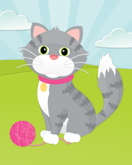 art prints - Tabby Cat by Little Bees Graphics