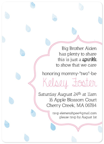 baby shower invitations - Baby Sprinkle for Mommy-Two-Be by Sara Rovell