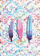 Pastel Aztex Feather Tr... by Madeleine