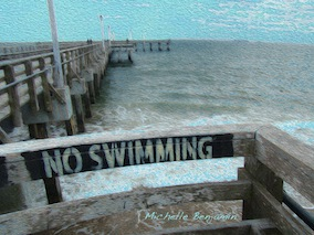 art prints - No Swimming by Michelle Benjamin