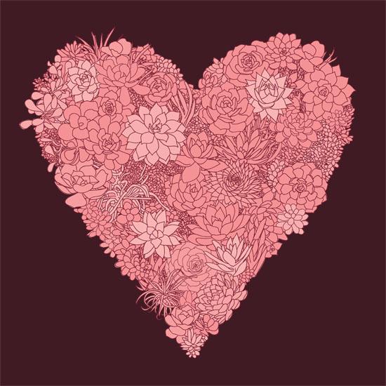 art prints - SUCCULENT HEART by Jen Montgomery