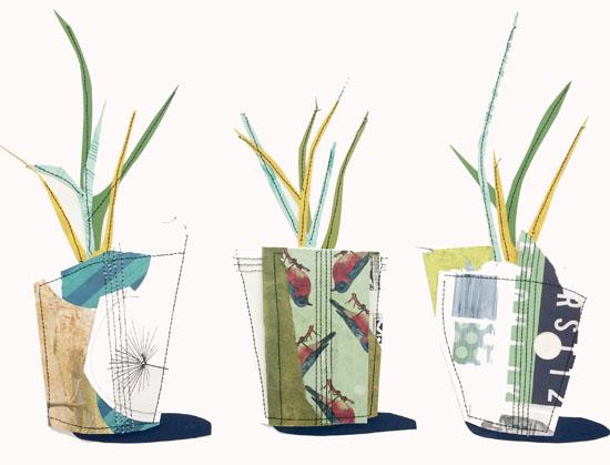 art prints - Potted Plants by Hannah Burnworth