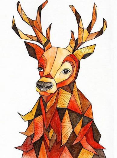 art prints - Oh My Deer by Amy Nickerson
