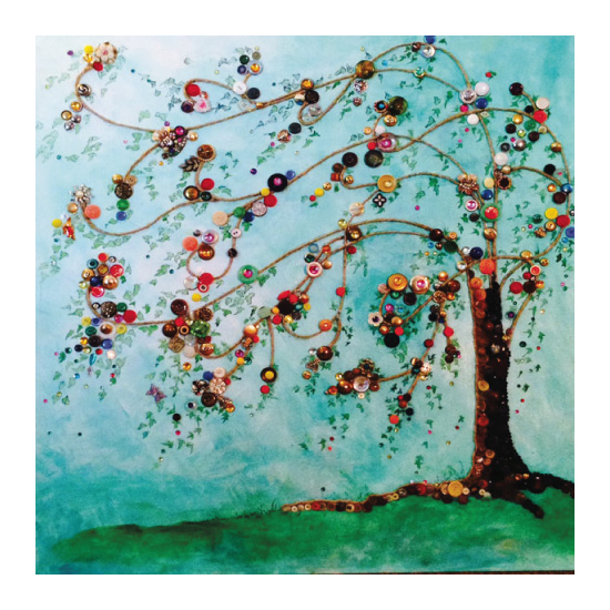 art prints - Button Tree by YakiArtist