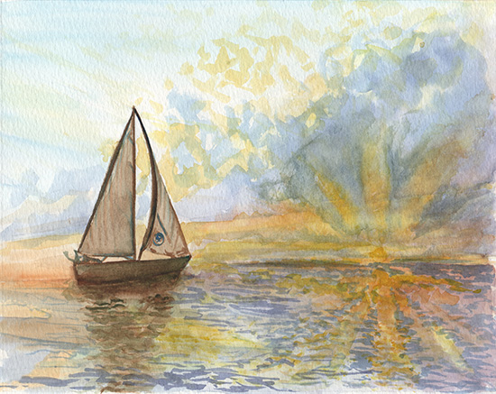 art prints - Sail Beyond the Horizon by Lauren Haule