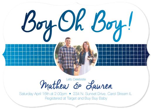 baby shower invitations - Baby Boy Reveal by Erica Burton
