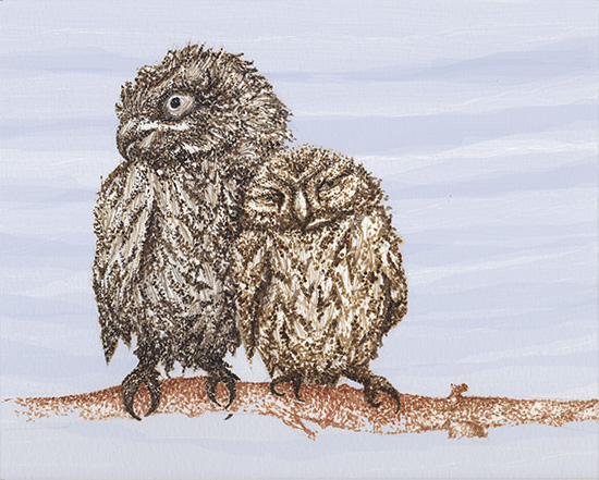 art prints - Hoots and Cuddles by Lauren Haule