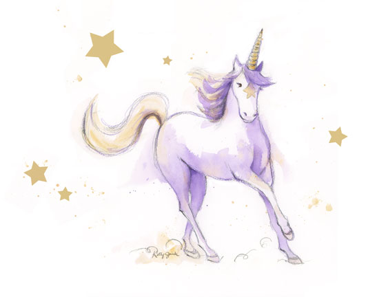 art prints - Unicorn Fantasy by Kathy Jurek