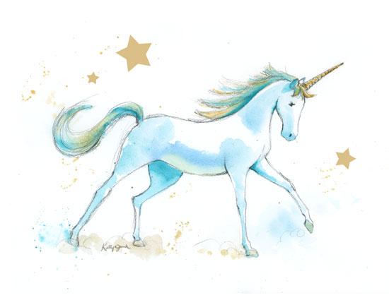 art prints - Unicorn Fantasy 2 by Kathy Jurek