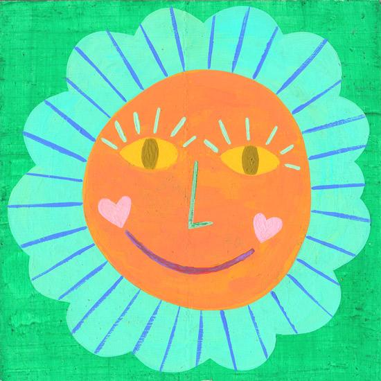 art prints - Happy Sunshine by Julz Nally