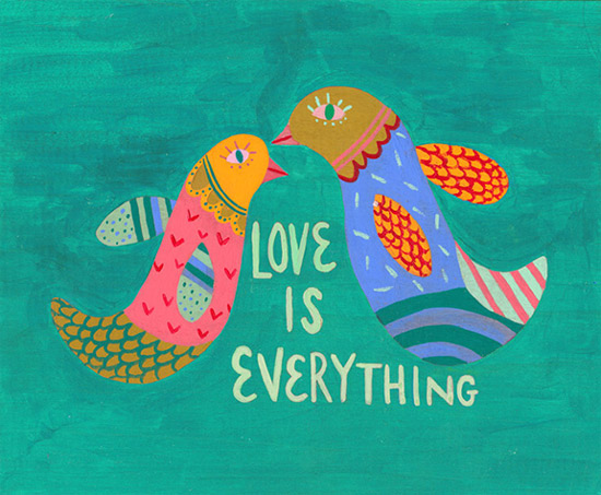 art prints - Love is Everything by Julz Nally