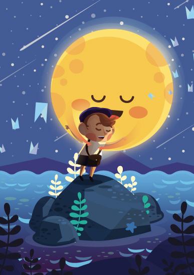 art prints - Hello Moonlight by JC Roxas