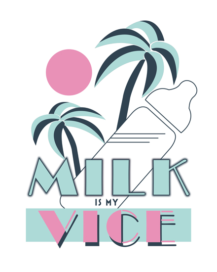 art prints - Milk Vice by Thoroughly Curly Designs