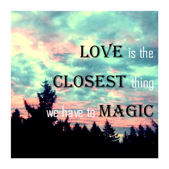 art prints - Love is Magical by SJ Design