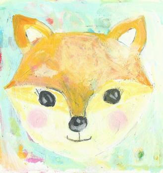 little happy fox