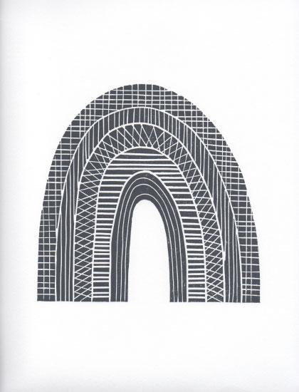 art prints - Rainbow in Black & White by Mellani DeJesus