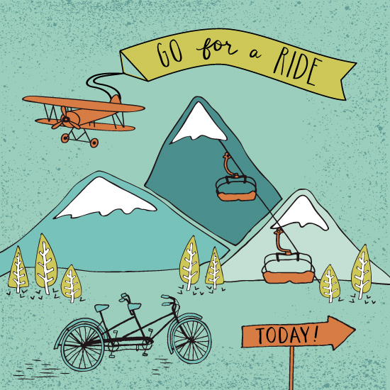 art prints - Go for a Ride by Lisa Weber