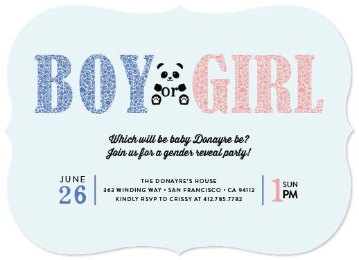 baby shower invitations - Baby Panda Paws by Mary Grace