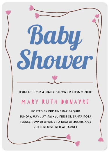 baby shower invitations - Baby Shower Cherry by Mary Grace