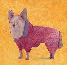 Pink dog by Marina Eiro