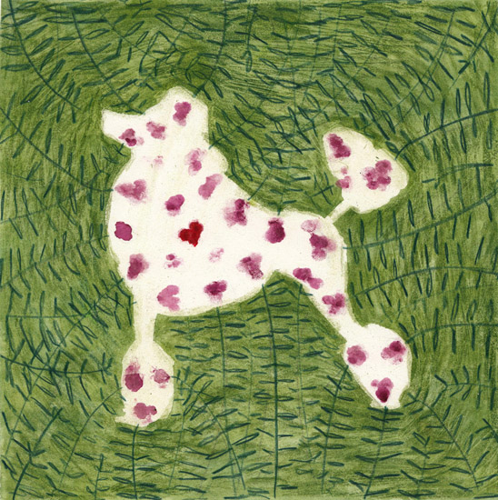 art prints - Dog and flowers by Marina Eiro