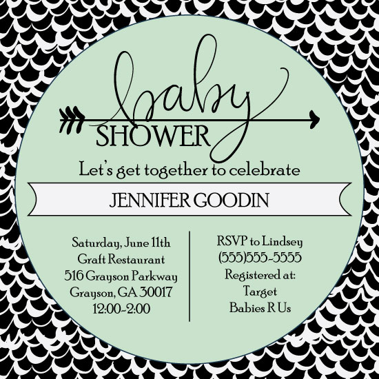 baby shower invitations - Baby Waves by Lindsey Hohman