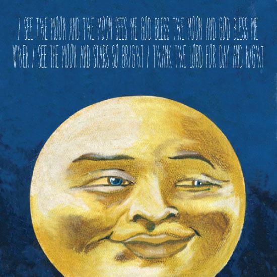 art prints - moon man by Judy Stone