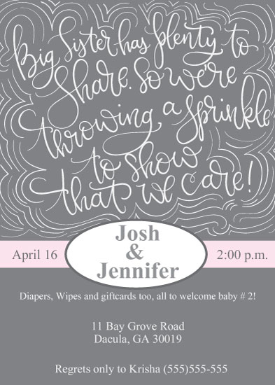 baby shower invitations - Baby Girl Sprinkle by Lindsey Hohman