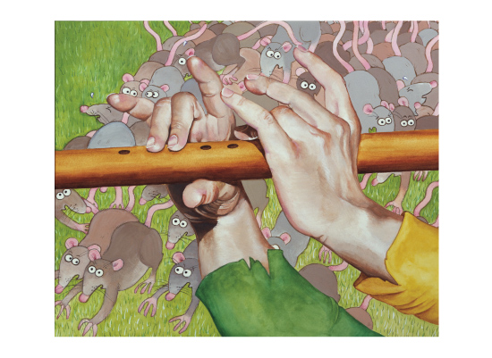 art prints - Pied Piper and rats by Elaine Strocher