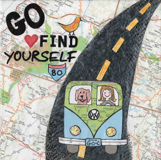 art prints - Go Find Yourself! by Kim Dettmer