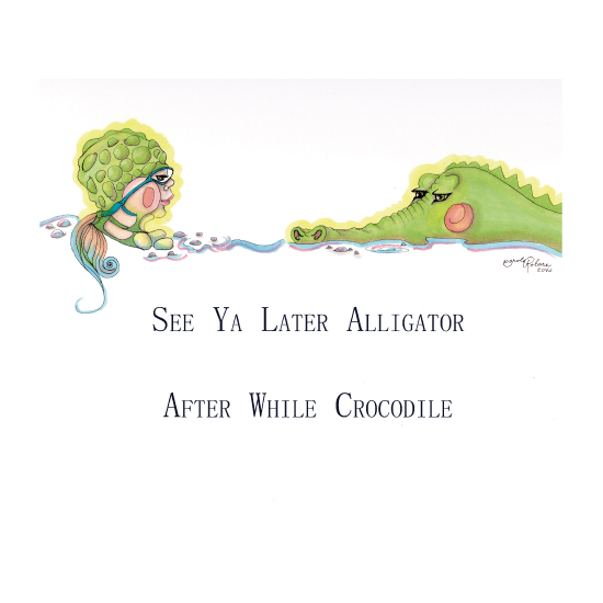 art prints - After While Crocodile by Carole Robare