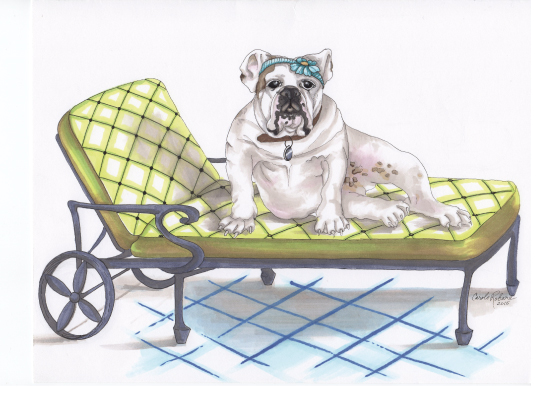 art prints - Poolside Pup by Carole Robare