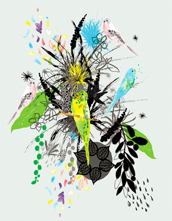 art prints - TROPICAL EXUBERANCE by Acadreamia Designs