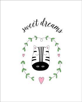 sweet dreams zebra