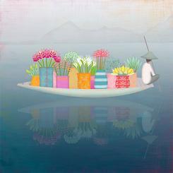 Tropical Flower Boat