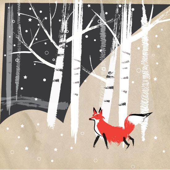 art prints - AnnieBakst-FoxyWoods by Annie Bakst