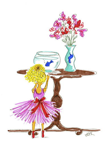 art prints - Tutu's and Bubbles by Laura Ansley Koerner