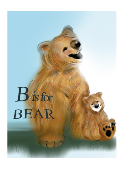 art prints - B is for BEAR by Carole Robare